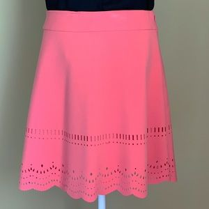 Ann Taylor Loft Salmon Cut Out Design Skirt Size 8